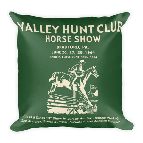 Hunt Club Pillow - Hunter Green/Creme Reversible