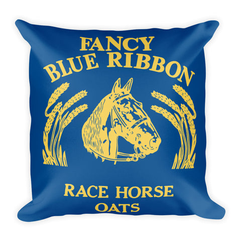 Blue Ribbon Horse Pillow - Lapis Blue/Primrose Yellow