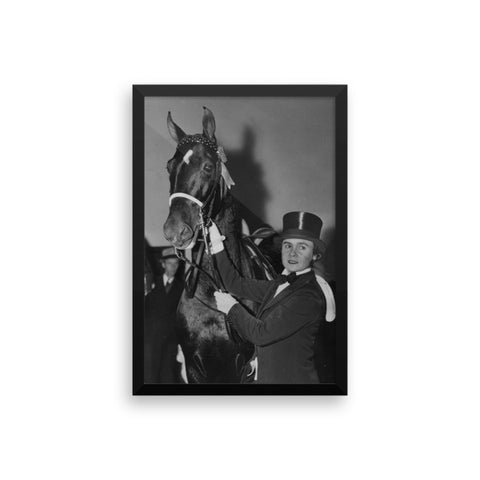 Top hats and rosettes - Framed - 12x18