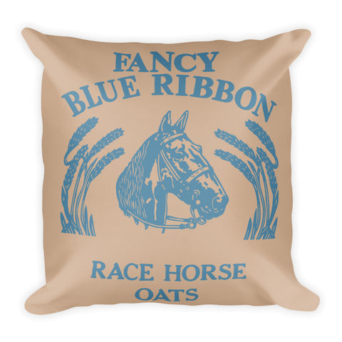 Blue Ribbon Horse Pillow - Hazelnut/Niagra