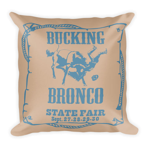 Bronco Pillow - Hazelnut/Niagra