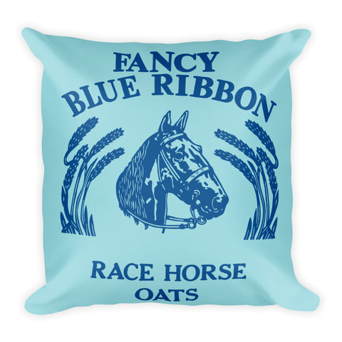 Blue Ribbon Horse Pillow - Island Paradise/Lapis Blue