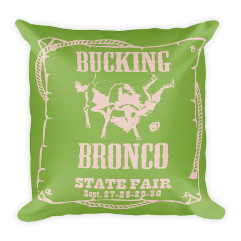 Bronco Pillow - Greenery/Pale Dogwood