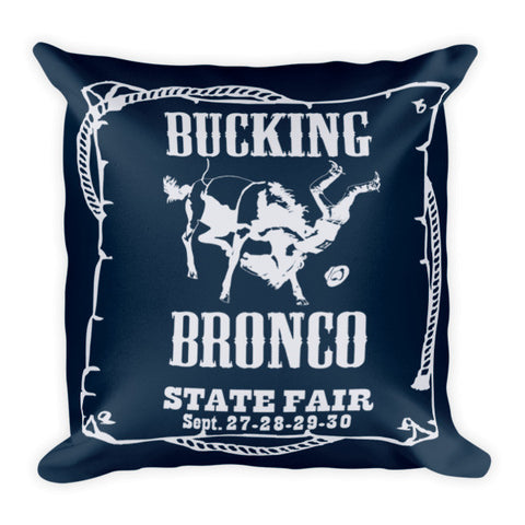 Rebecca Ray Designs - Bronco Pillow - Navy/Light Gray Reversible - POD Pillows - Made in America