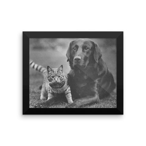Rebecca Ray Designs - Best friends - Framed - 8x10 - Poster - Made in America