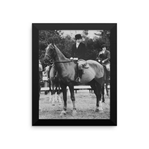 Woman on horse - Framed - 8x10
