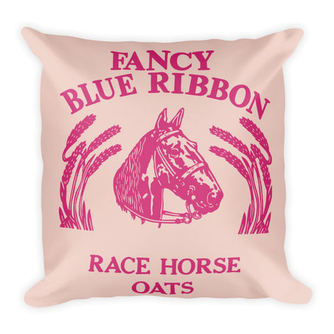 Blue Ribbon Horse Pillow - Pale Dogwood/Pink Yarrow