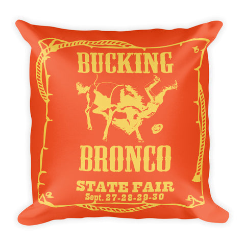 Bronco Pillow - Flame/Primrose Yellow