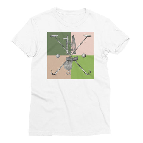 Women's White T-Shirt - Polo Gear - 4 Muted Colors