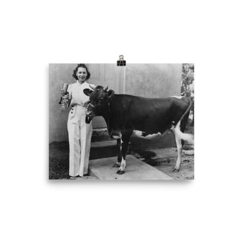 Rebecca Ray Designs - Champion cow - 3 Sizes - Poster - Made in America