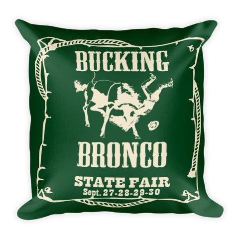 Rebecca Ray Designs - Bronco Pillow - Hunter Green/Creme Reversible - POD Pillows - Made in America