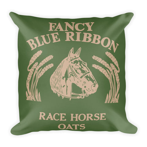Blue Ribbon Horse Pillow - Kale/Hazelnut