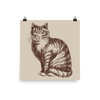 Archival Ink 12 x 12 photo paper poster - Cat