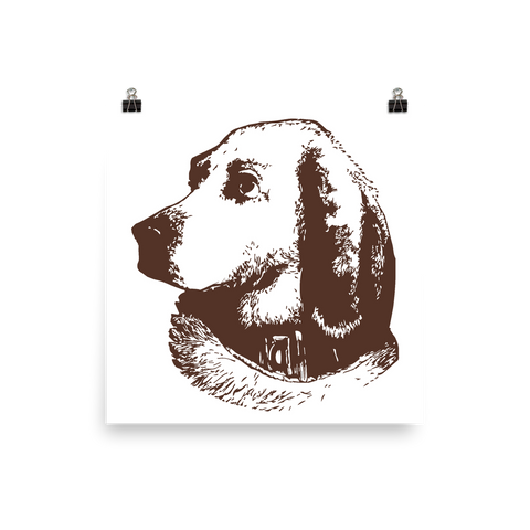 Archival Ink 12 x 12 photo paper poster - Good Dog Hound