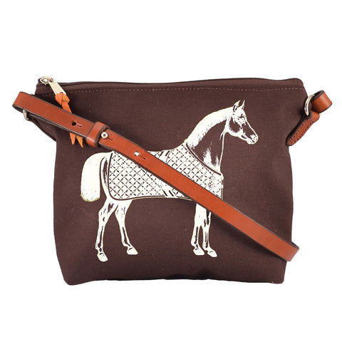Rebecca Ray Designs - Burghley Crossbody Horse Design - Handbag - Made in America