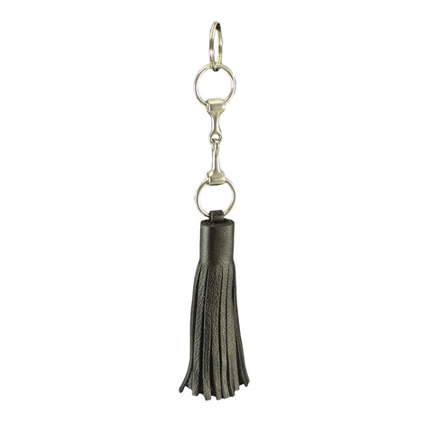 Select Leather Snaffle Tassel Key Ring