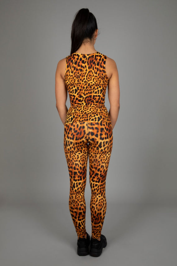 Hear Me Roar! Top & High Waist Leggings, Leopard