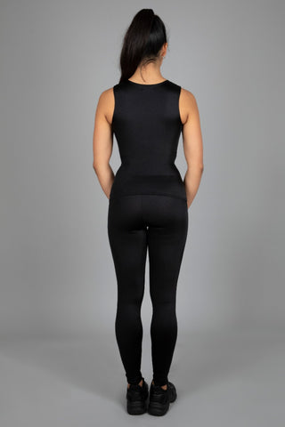 Mono Top & High Waist Leggings, Black