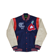 Load image into Gallery viewer, Heart Big Apple Varsity Jacket