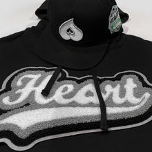 Load image into Gallery viewer, Heart Chenille Hoody (Blk)