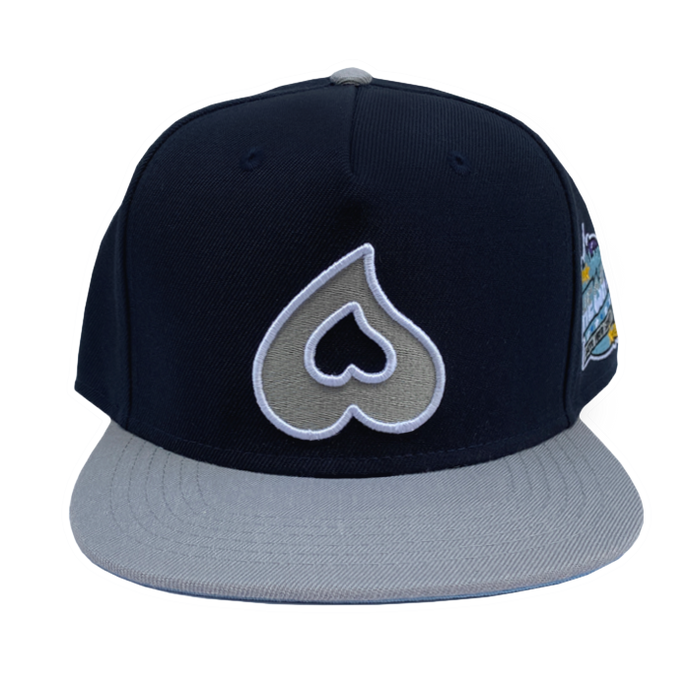Heart Snapback w/ Blue Bottom