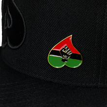 Load image into Gallery viewer, Exclusive Heart BHM Snapback W/ Pin