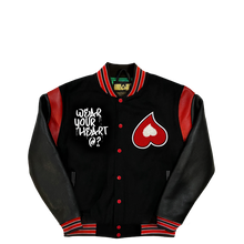 Load image into Gallery viewer, Heart Classic Varsity Jacket