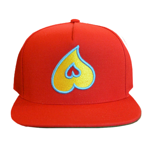 Heart Snapback (Red)