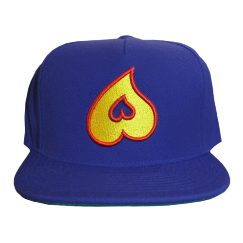 Heart Snapback (Royal Blue)