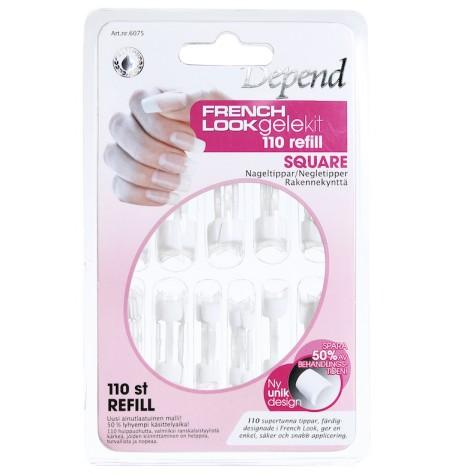 6075 French Look square - refill støpesett