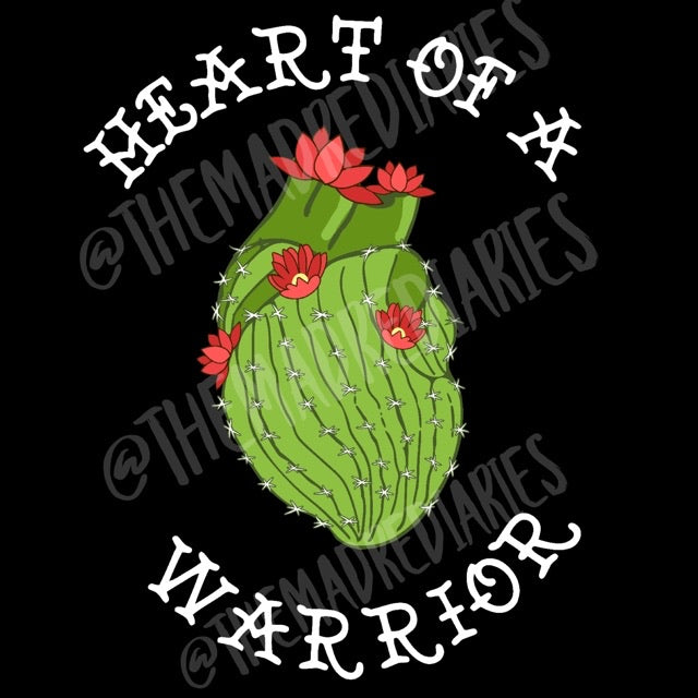 Heart of a warrior kids tee