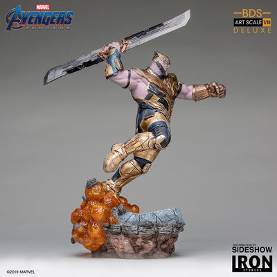 1:10 Art Scale Line 14 Inch Statue Figure Avengers Endgame - Thanos Deluxe Version Iron Studios 904615