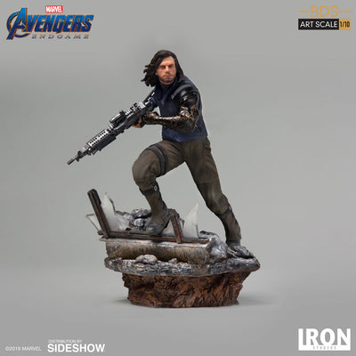 1:10 Art Scale Line 8 Inch Statue Figure Avengers Endgame - Winter Soldier Iron Studios 904762