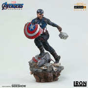 1:10 Art Scale Line 8 Inch Statue Figure Avengers Endgame - Captain America Deluxe Version Iron Studios 904763