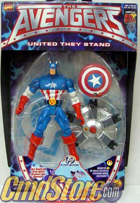 CAPTAIN AMERICA The Avengers Marvel Action Figure By Toy Biz (Sub-Standard Packaging)