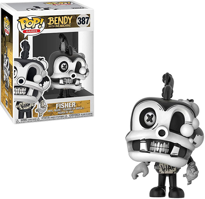 Pop Games 3.75 Inch Action Figure Bendy And The Ink Machine - Fisher #387