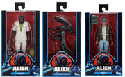 Alien 40th Anniversary 7 Inch Action Figure Series 2 - Set of 3 (Brett - Parker - Big Chap Bloody)