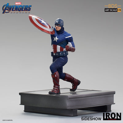 1:10 Art Scale 8 Inch Statue Figure Battle Diorama Series - Captain America 2012Iron Studios 905684