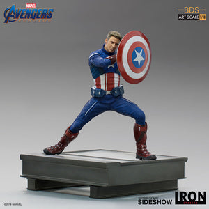 1:10 Art Scale 8 Inch Statue Figure Battle Diorama Series - Captain America 2023Iron Studios 905685