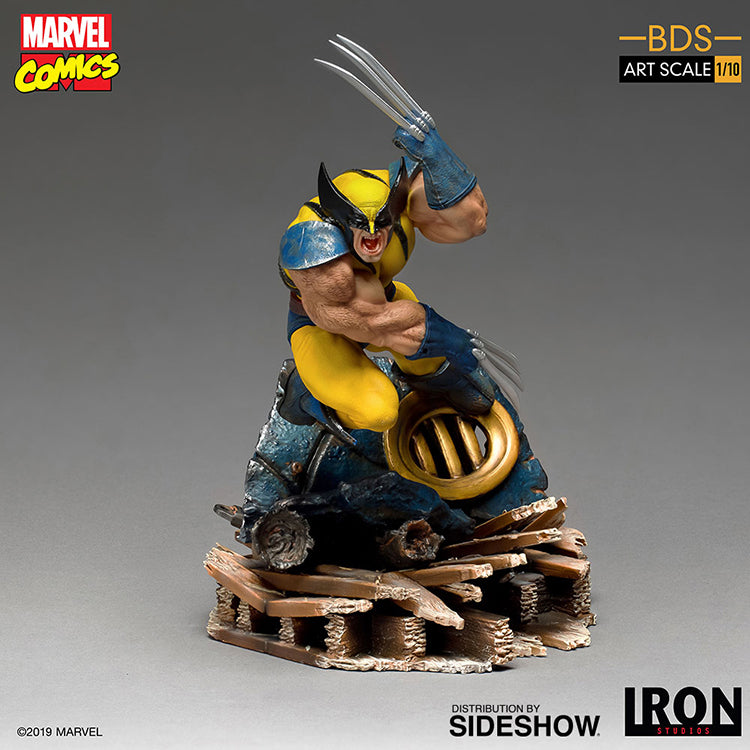 1:10 Art Scale 9 Inch Statue Figure Battle Diorama Series - Wolverine Iron Studios 905493