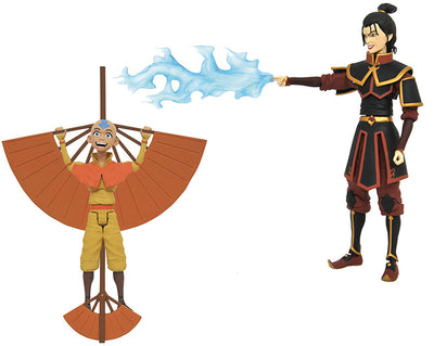 Avatar The Last Airbender Select 7 Inch Action Figure Series 2 - Set of 2 (Ang and Azula)