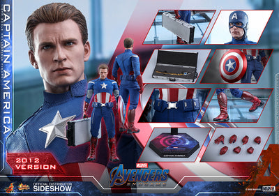 Avengers Endgame 12 Inch Action Figure 1/6 Scale Series - Captain America (2012 Version) Hot Toys 904929