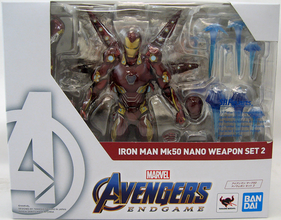 Avengers Endgame 6 Inch Action Figure S.H. Figuarts - Iron Man Mark 50 Nano Weapon