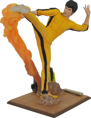 Bruce Lee Gallery 10 Inch Statue Figure - Kicking Bruce Lee