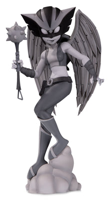 DC Artist Alley 6 Inch Statue Figure Chrissie Zullo - Hawkgirl Black & White