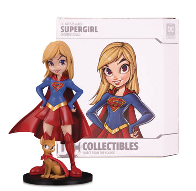DC Artist Alley 6 Inch Statue Figure Chrissie Zullo - Supergirl Color