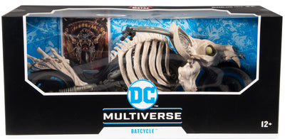 DC Multiverse Comic Series 10 Inch Vehicle Figure Death Metal - Batcycle