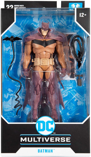 DC Multiverse 7 Inch Action Figure Comic Series Exclusive - White Knight Batman Red Variant