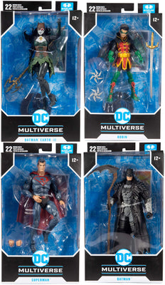 DC Multiverse Comic Series 7 Inch Action Figure Wave 4 - Set of 4 (Red Son - Batman - Robin - Drowned)