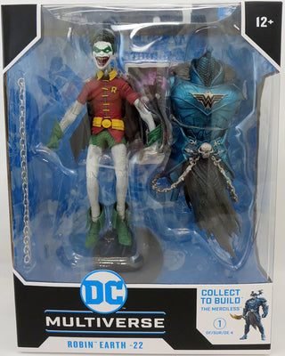 DC Multiverse Dark Nights Metal 7 Inch Action Figure BAF The Merciless - Robin Crow Earth-22 (Medium Open Mouth)